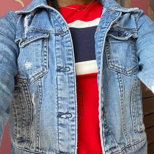 Forever 21 Ripped Denim Jacket